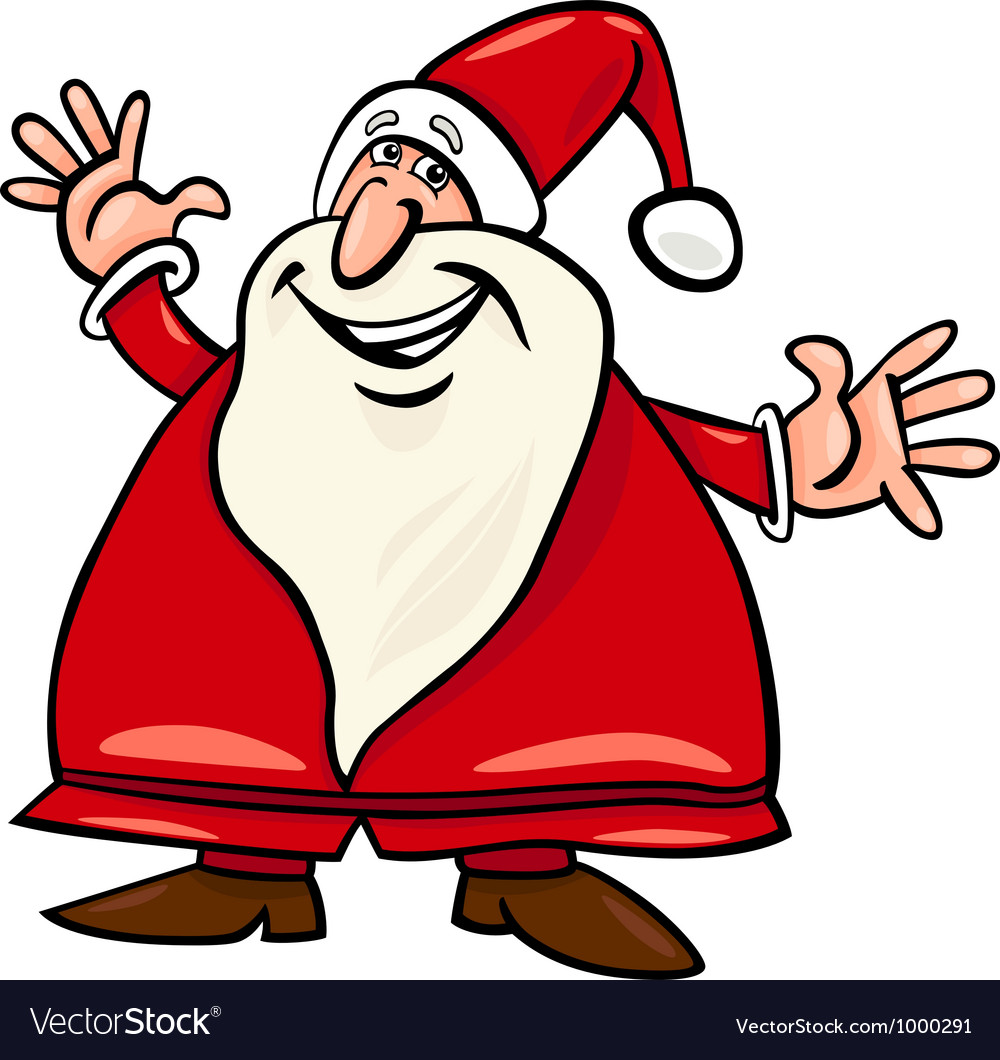 Santa claus cartoon vector | Price: 1 Credit (USD $1)