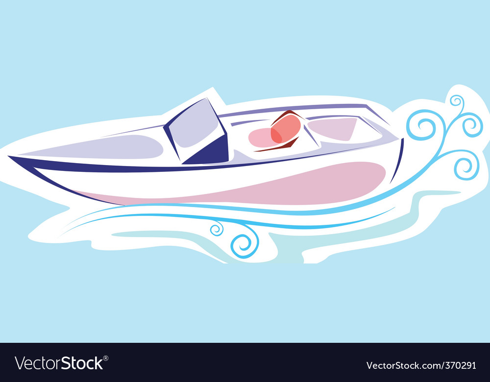Speedboat vector | Price: 1 Credit (USD $1)