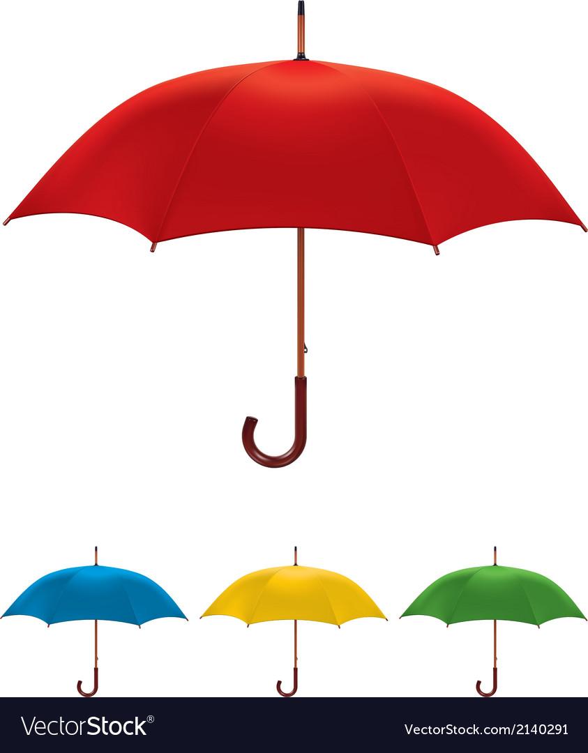 Umbrella set vector | Price: 1 Credit (USD $1)