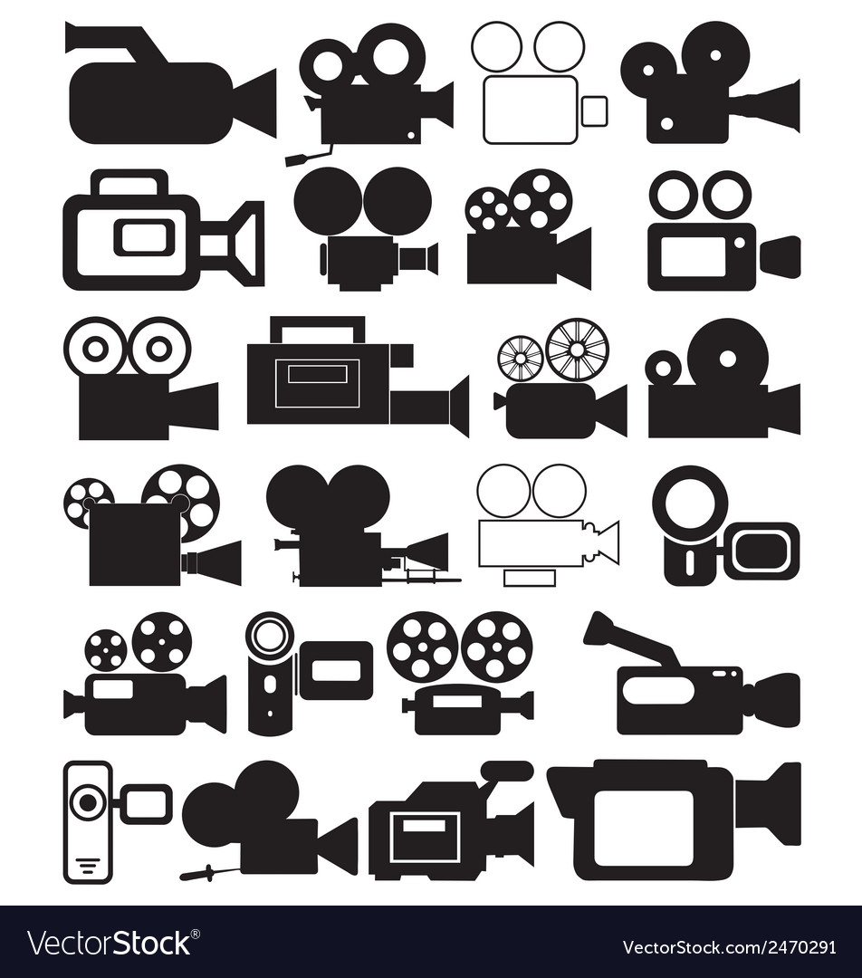 Video camera icons vector | Price: 1 Credit (USD $1)