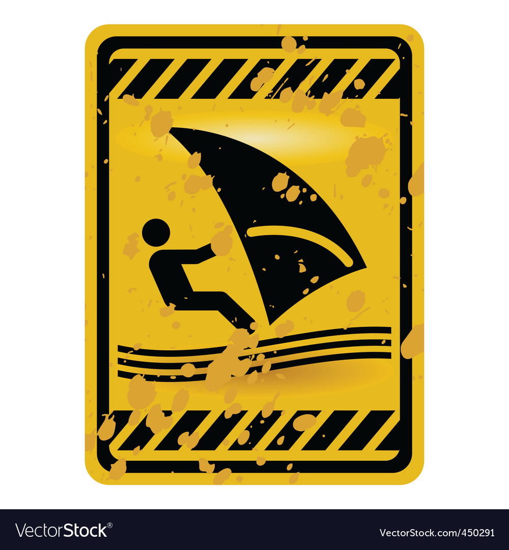Windsurf area sign vector | Price: 1 Credit (USD $1)