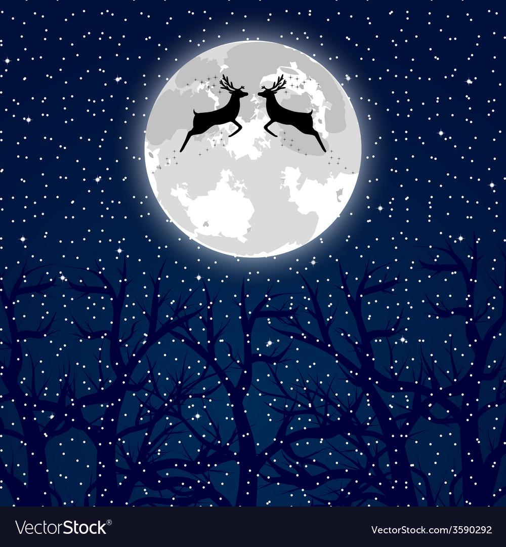 Christmas reindeer vector | Price: 1 Credit (USD $1)