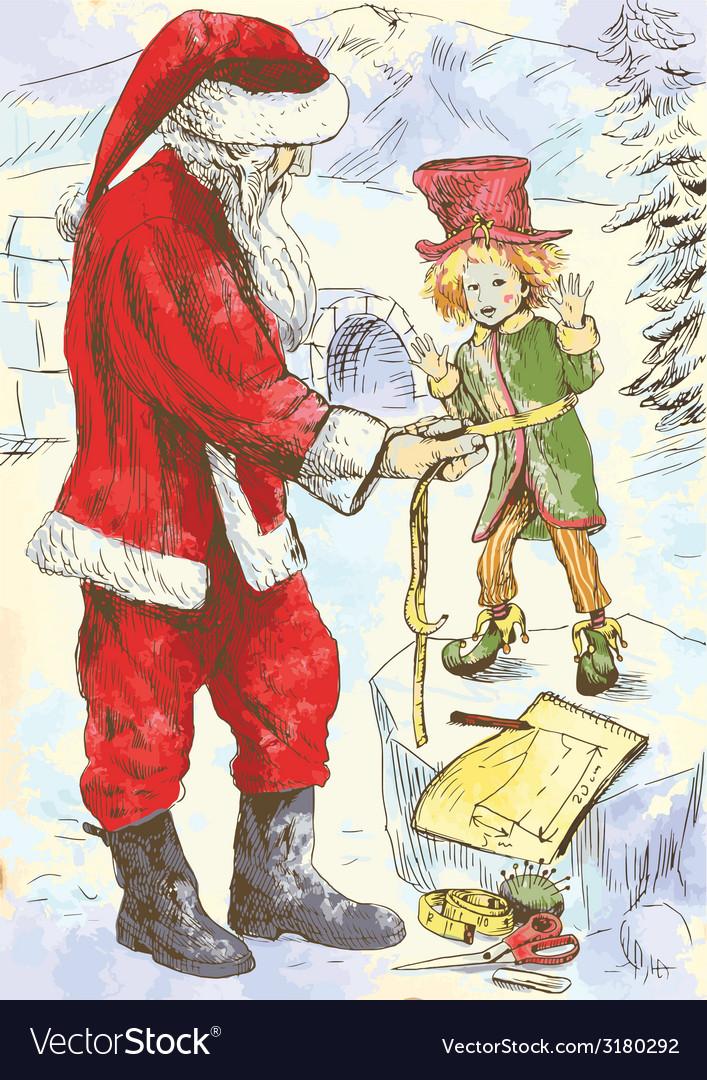 Christmas theme - santa claus vector | Price: 1 Credit (USD $1)