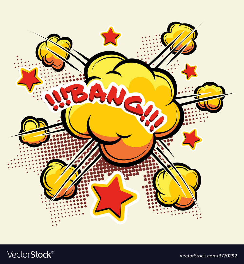 Comic book big explosion vector | Price: 1 Credit (USD $1)
