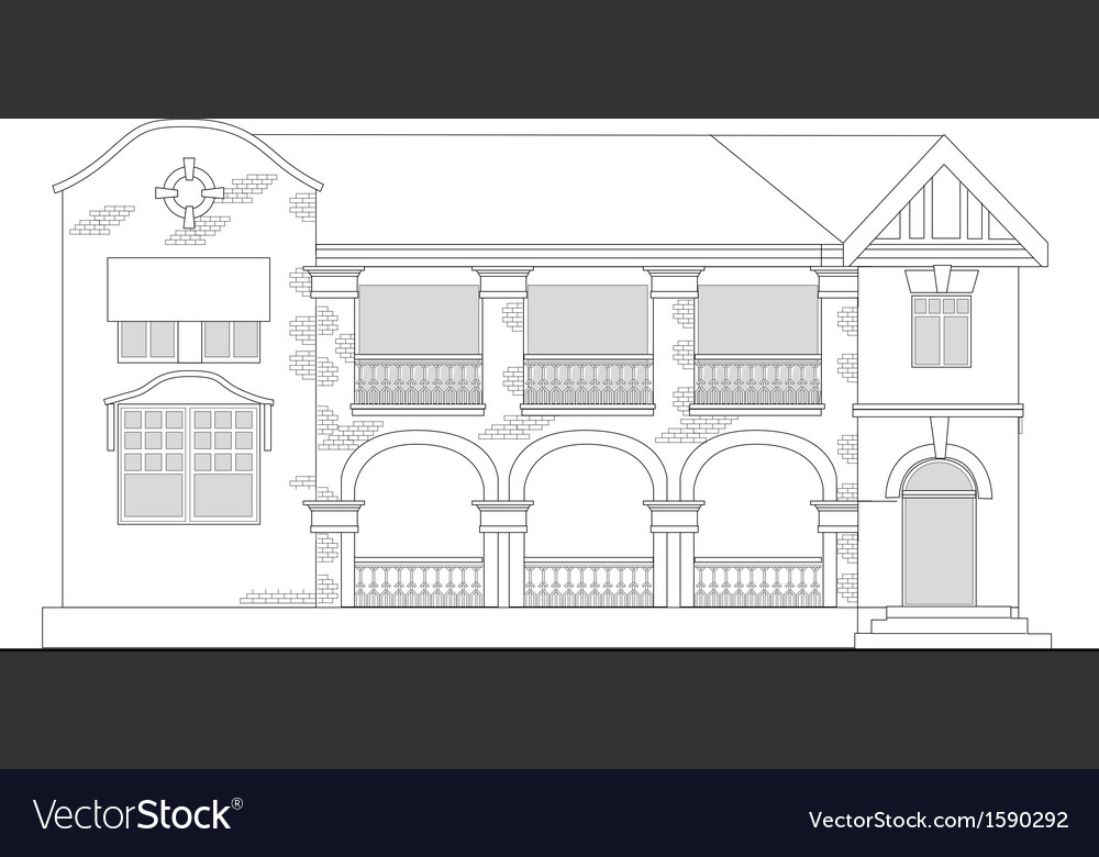 Commercial office building vector | Price: 1 Credit (USD $1)