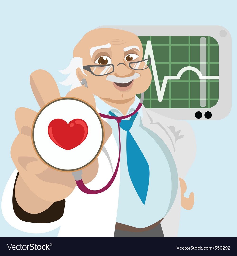 Doctor with health symbol vector | Price: 3 Credit (USD $3)
