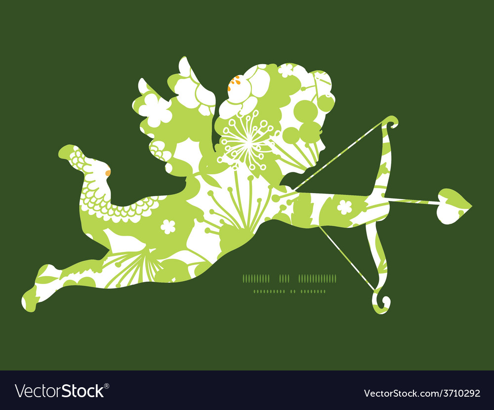 Green and golden garden silhouettes vector | Price: 1 Credit (USD $1)