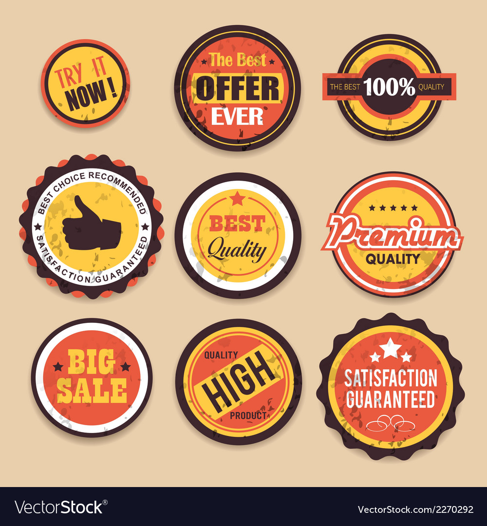 Retro sale badges vector | Price: 1 Credit (USD $1)