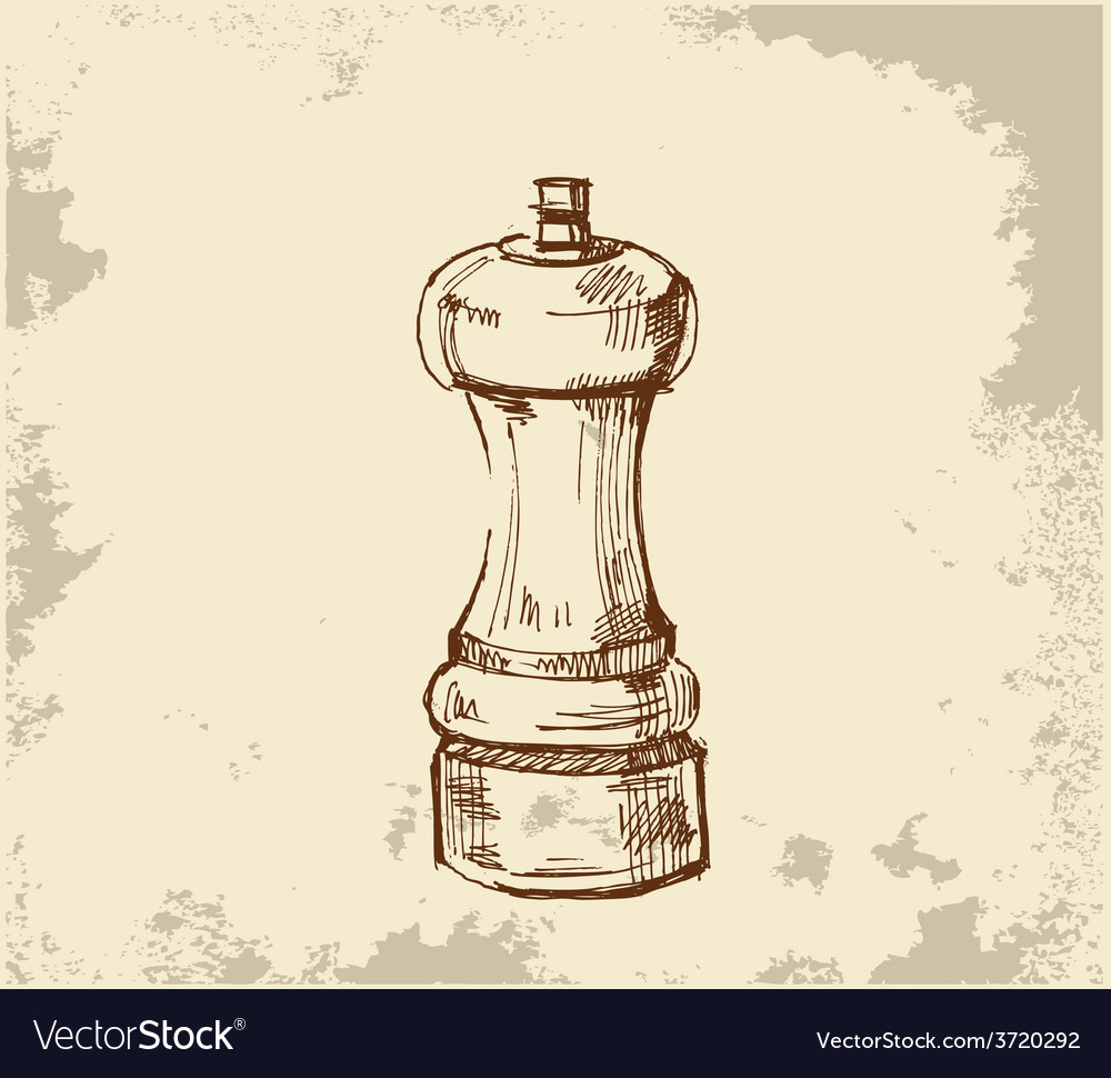 Salt cellar salt cellar skech painting paint vector | Price: 1 Credit (USD $1)
