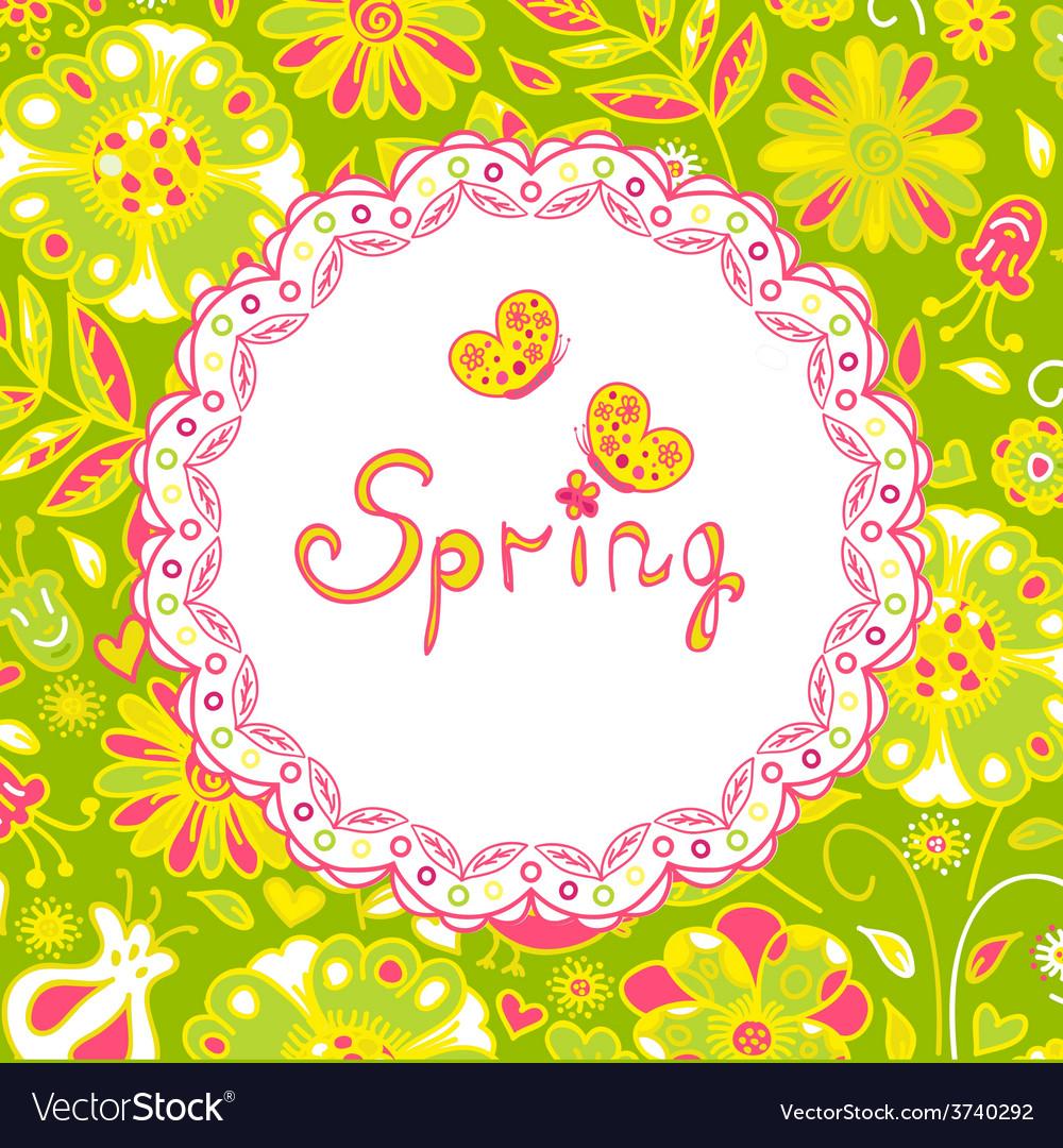 Spring flowers spring background vector