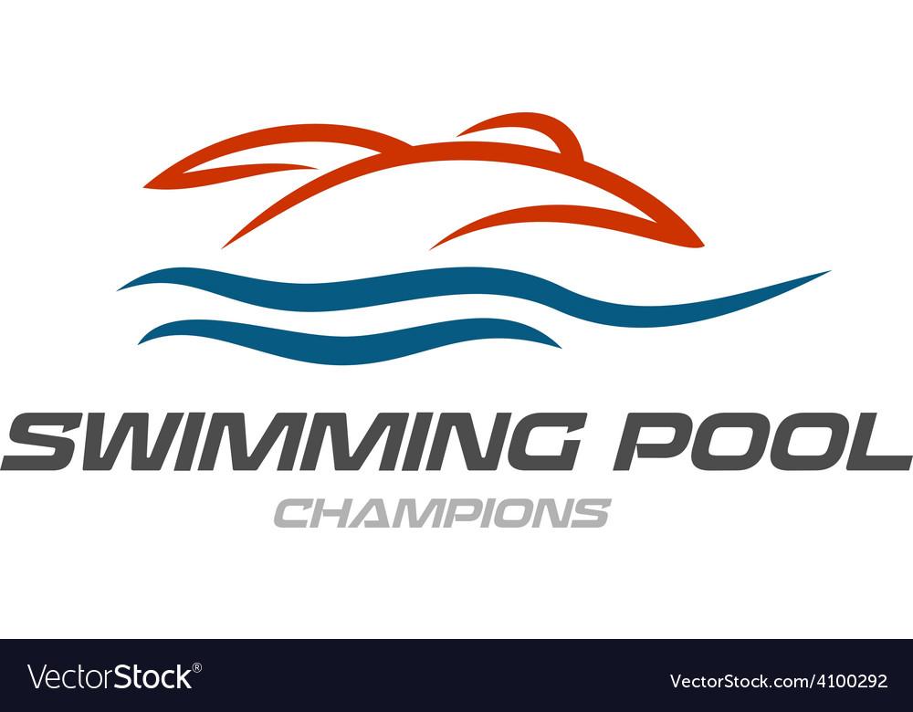Swimming pool logo template vector | Price: 1 Credit (USD $1)