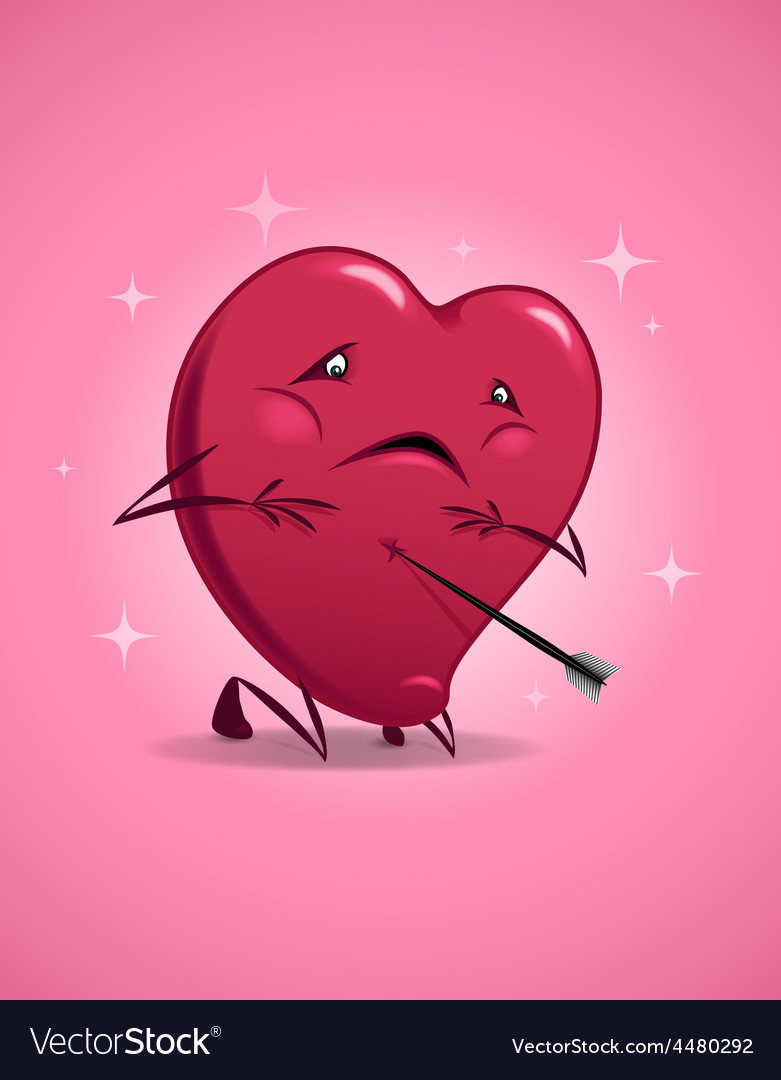 Valentines day wounded heart vector | Price: 1 Credit (USD $1)