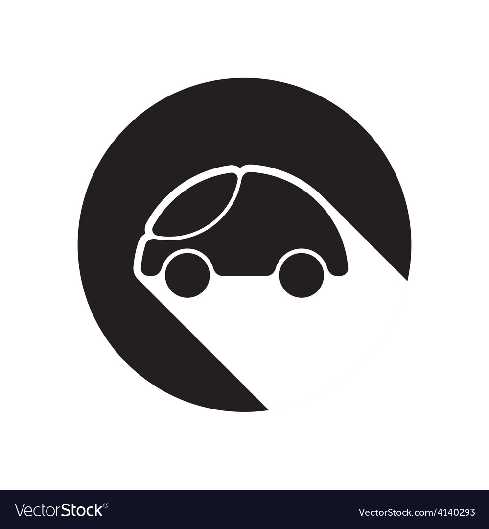 Black icon with car and stylized shadow vector | Price: 1 Credit (USD $1)