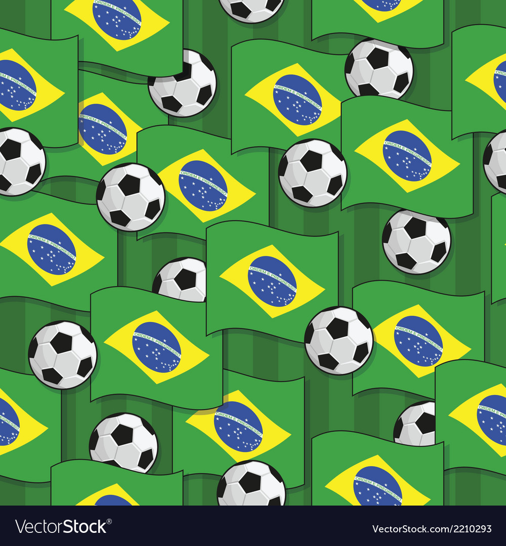 Brazil football pattern vector | Price: 1 Credit (USD $1)