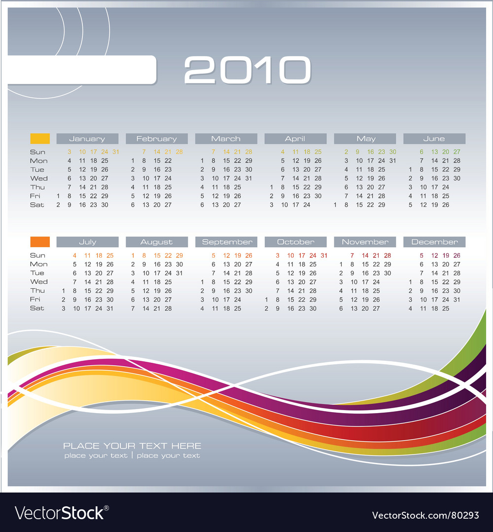 Business calendar vector | Price: 1 Credit (USD $1)