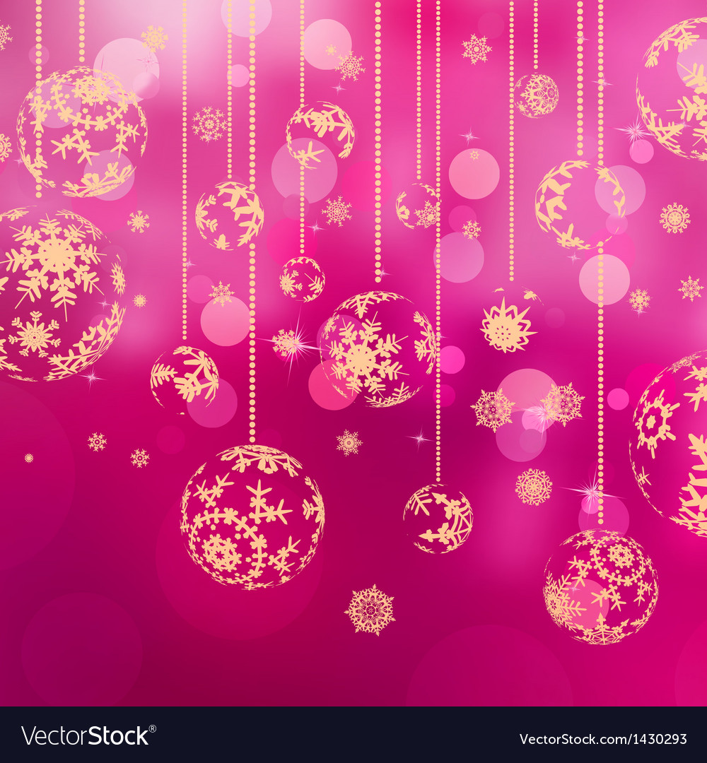 Christmas background with baubles eps 10 vector | Price: 1 Credit (USD $1)