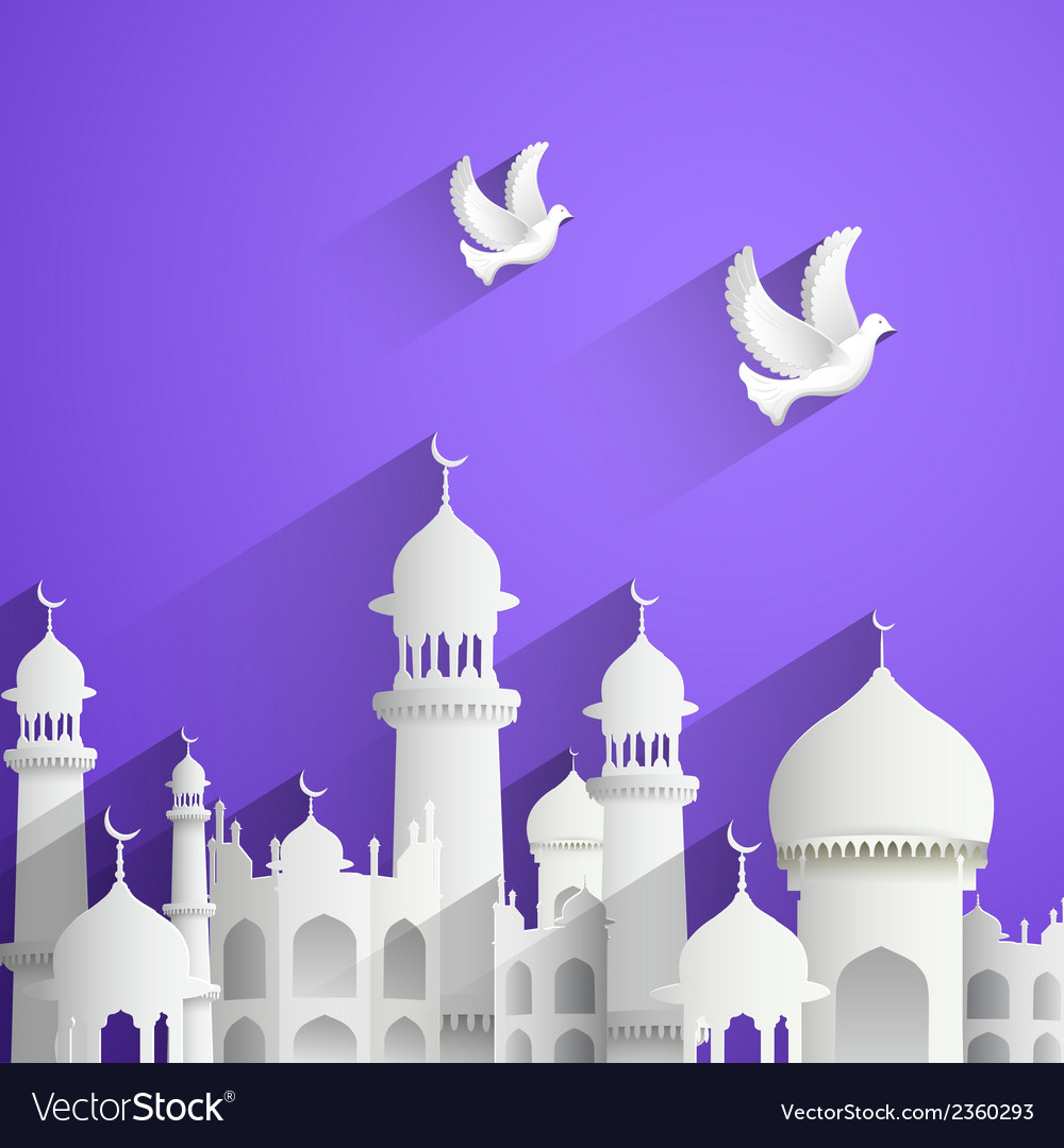 Eid mubarak happy eid background vector | Price: 3 Credit (USD $3)