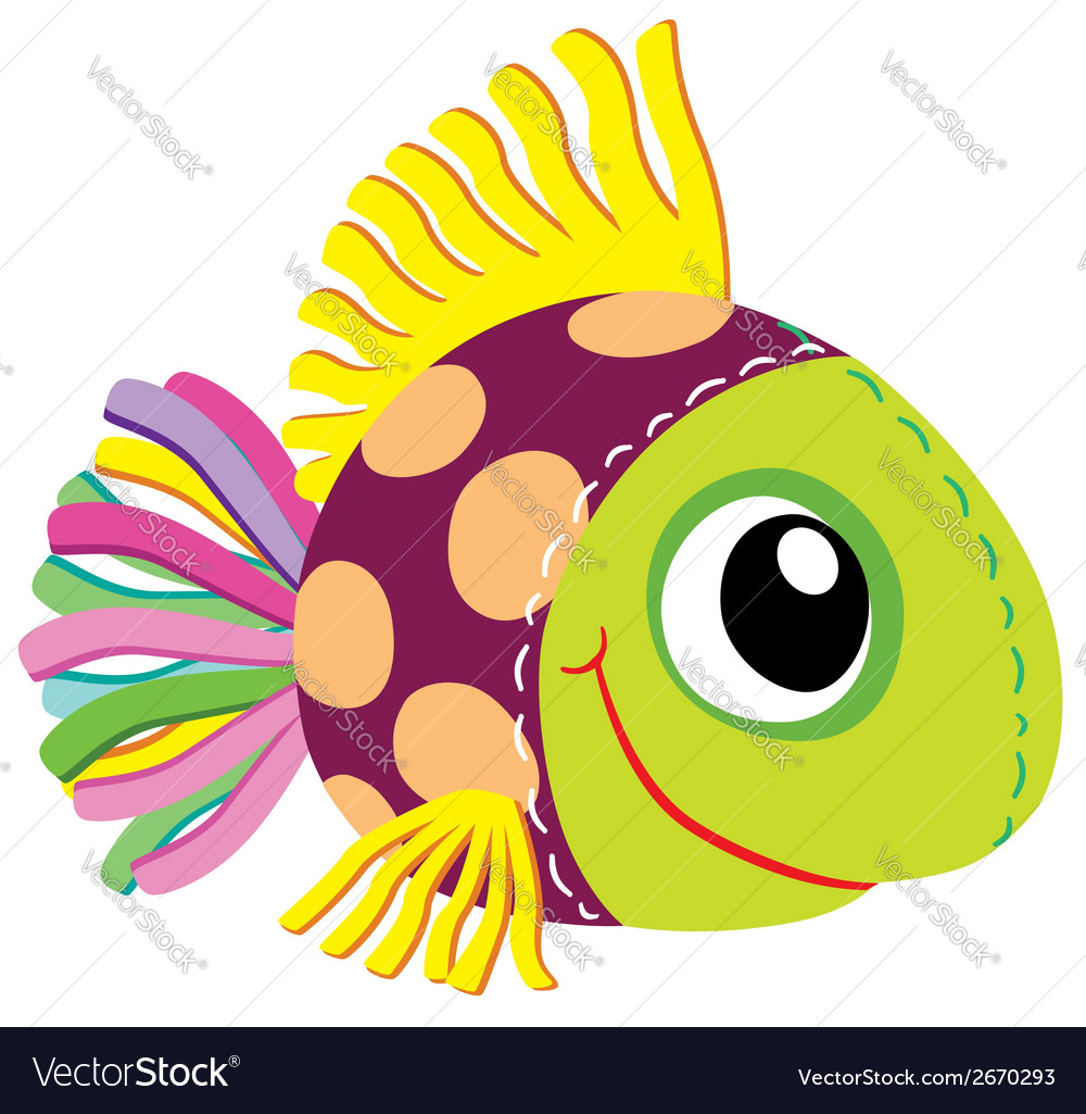 Fish soft toy vector | Price: 1 Credit (USD $1)