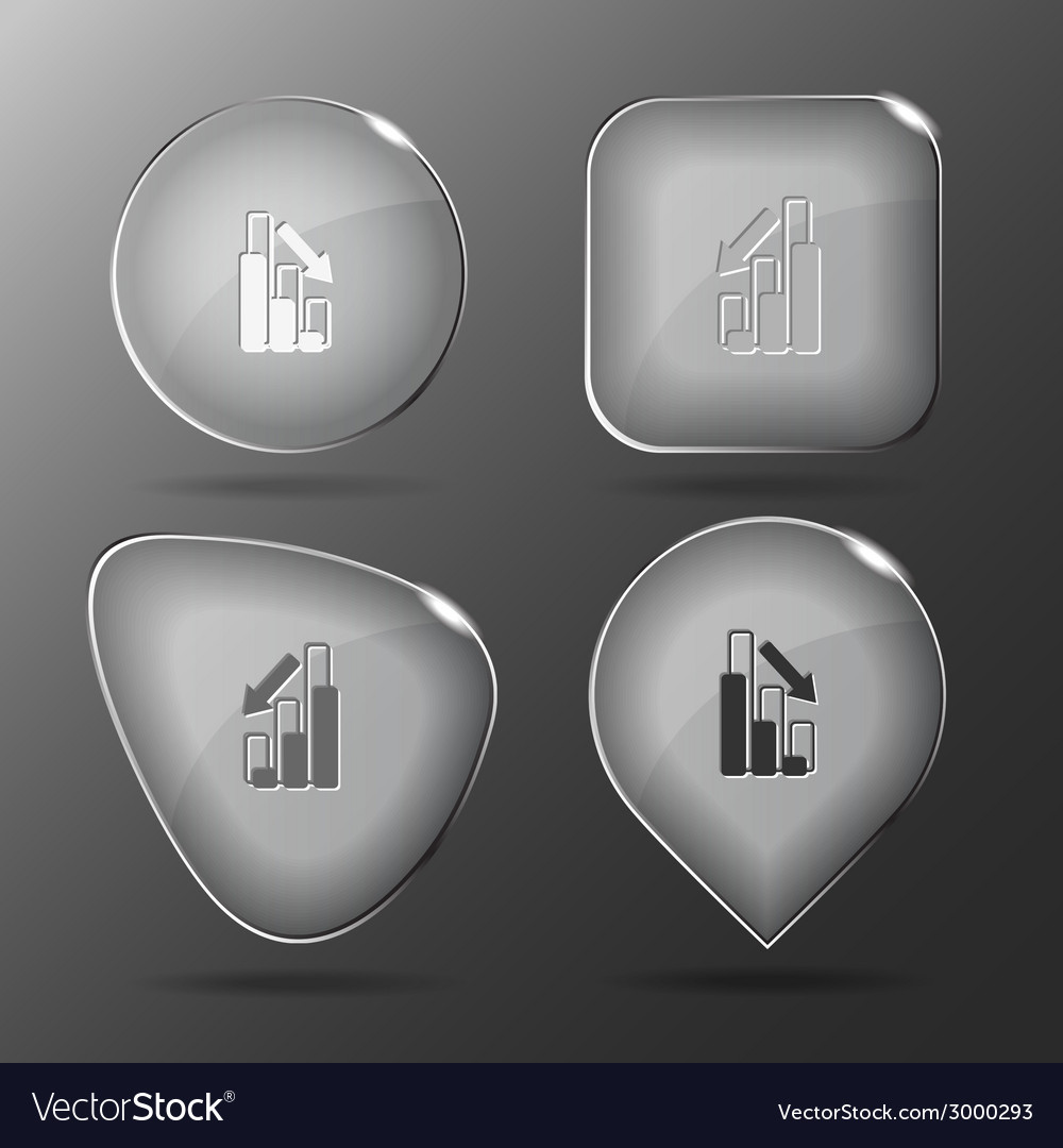 Graph degress glass buttons vector | Price: 1 Credit (USD $1)