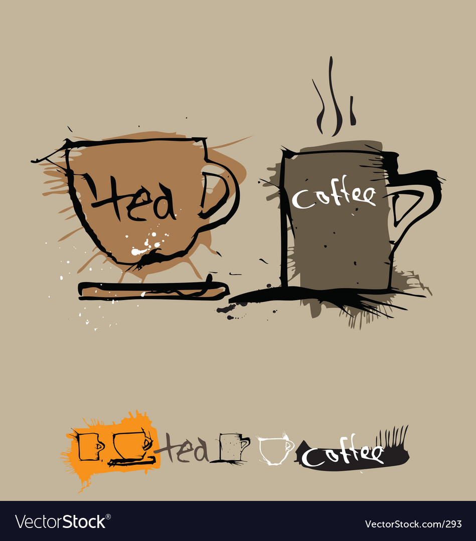 Ink coffee cup vector | Price: 3 Credit (USD $3)