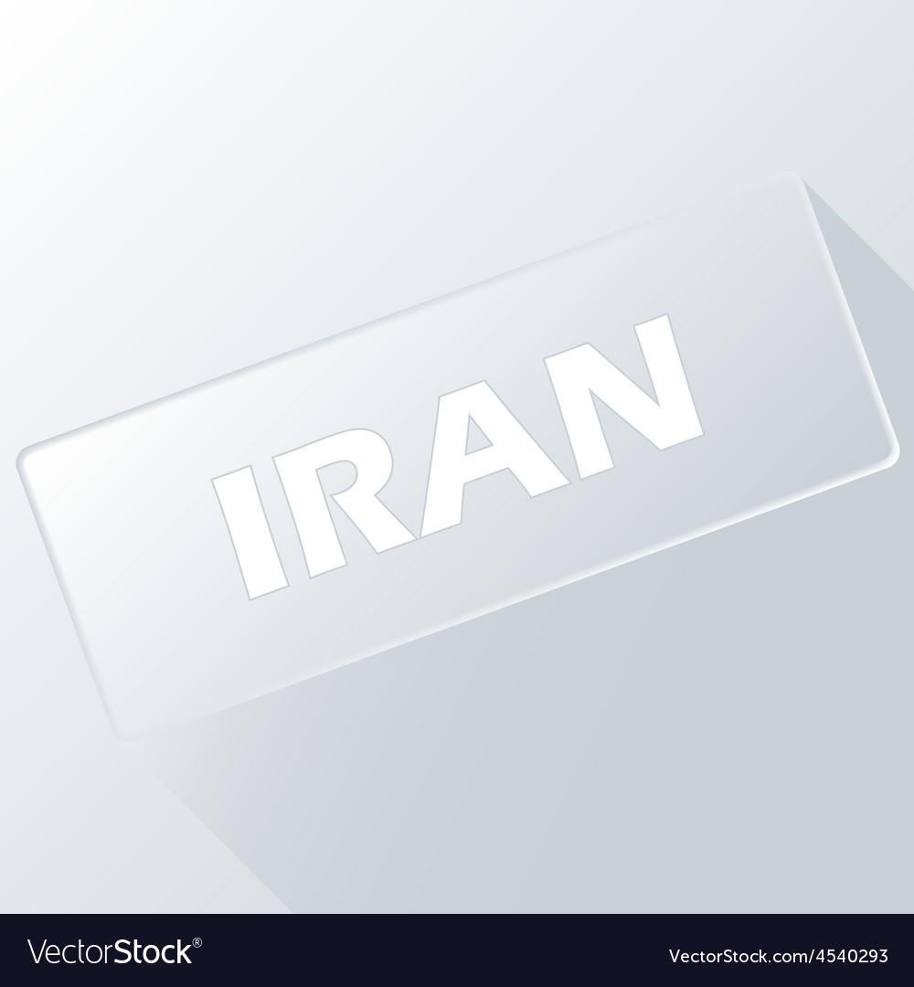 Iran unique button vector   Price: 1 Credit (USD $1)