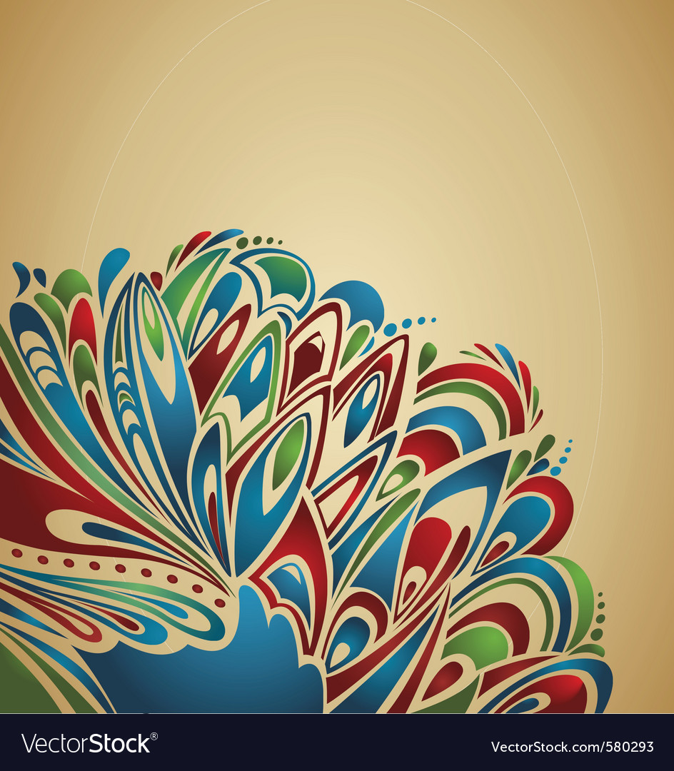 Peacock feathers vector | Price: 1 Credit (USD $1)