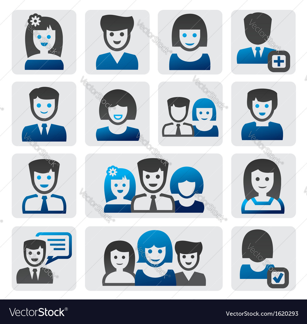 People icons vector | Price: 1 Credit (USD $1)