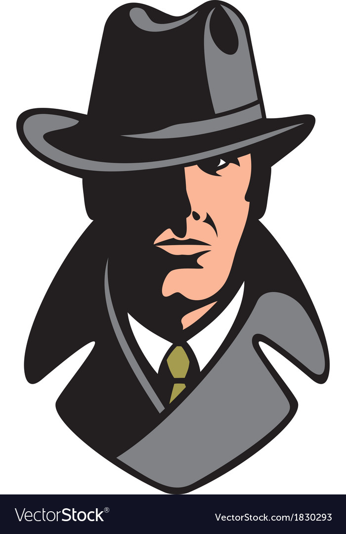 Private detective vector | Price: 1 Credit (USD $1)