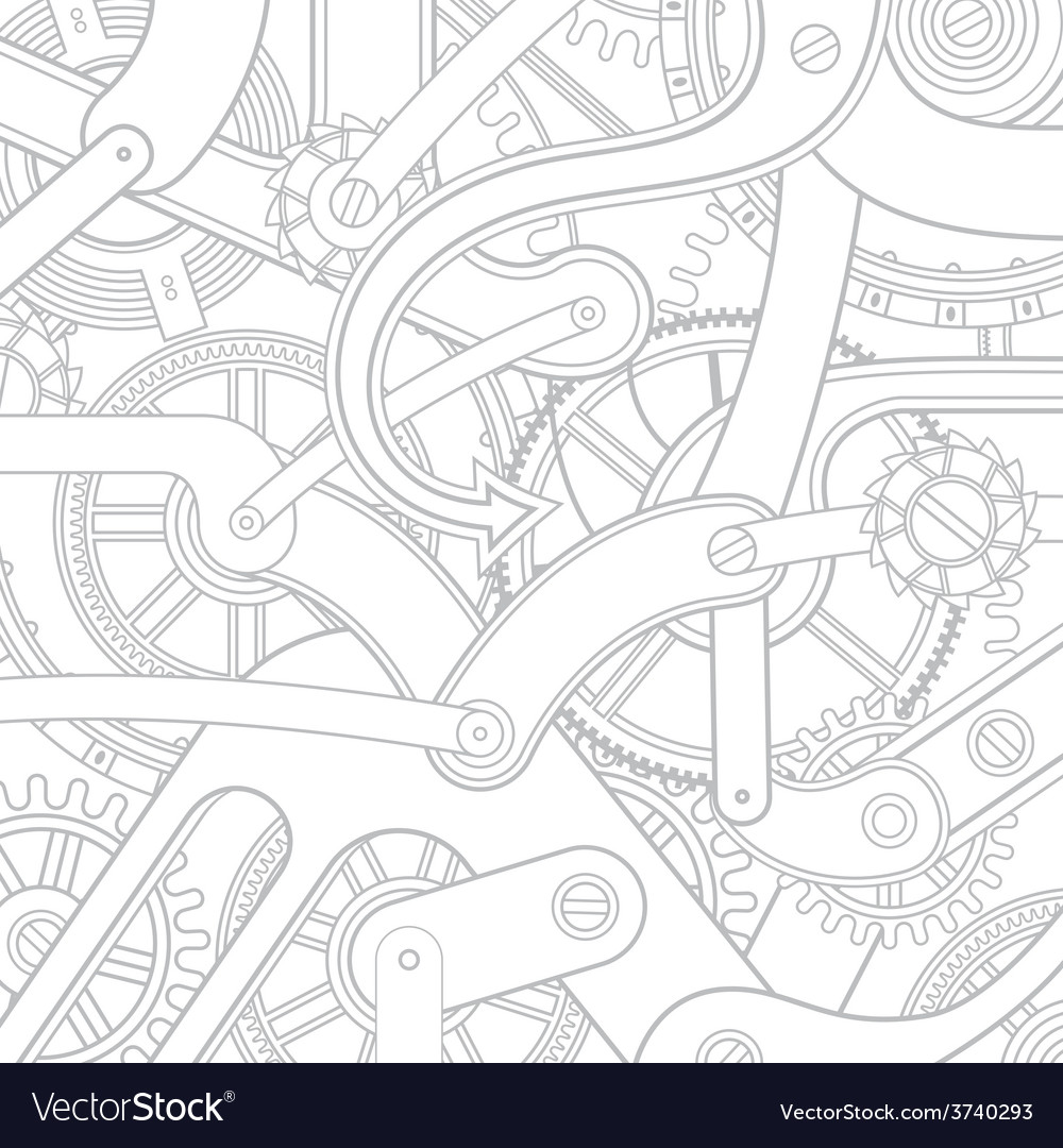 Seamless pattern of gears vector | Price: 1 Credit (USD $1)