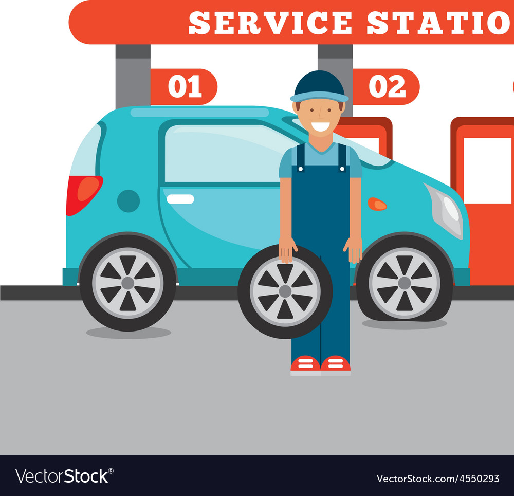 Service station vector | Price: 1 Credit (USD $1)