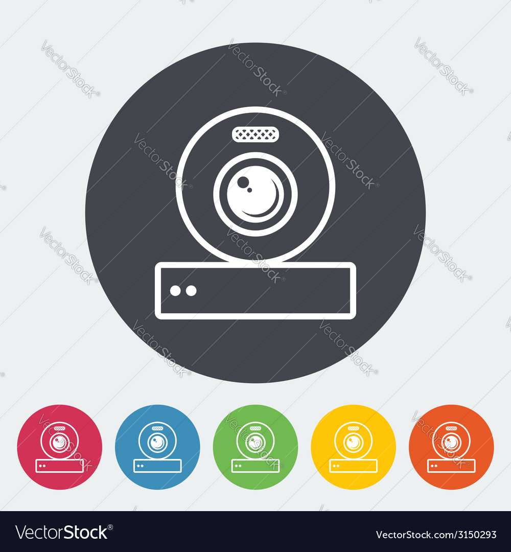 Web cam icon vector | Price: 1 Credit (USD $1)