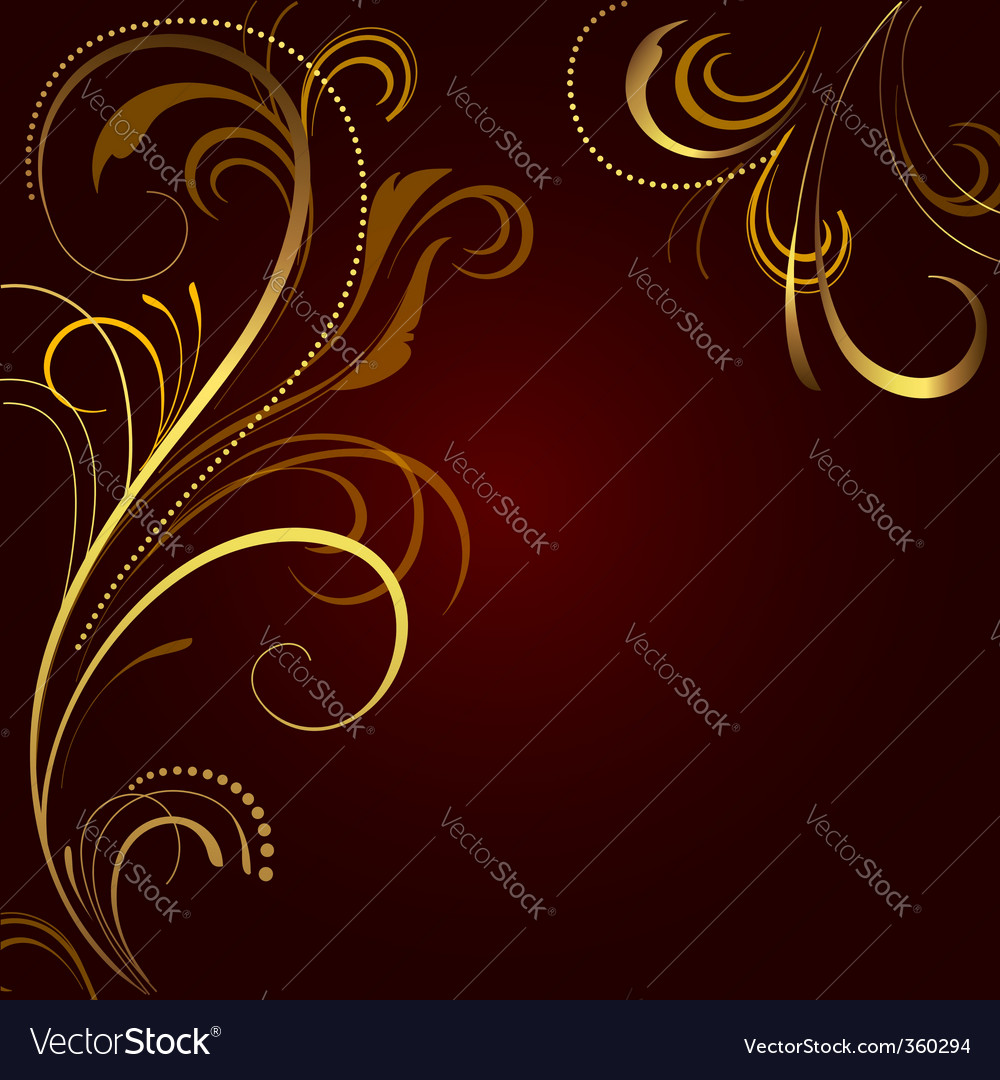 Abstract background with golden ornament vector | Price: 1 Credit (USD $1)