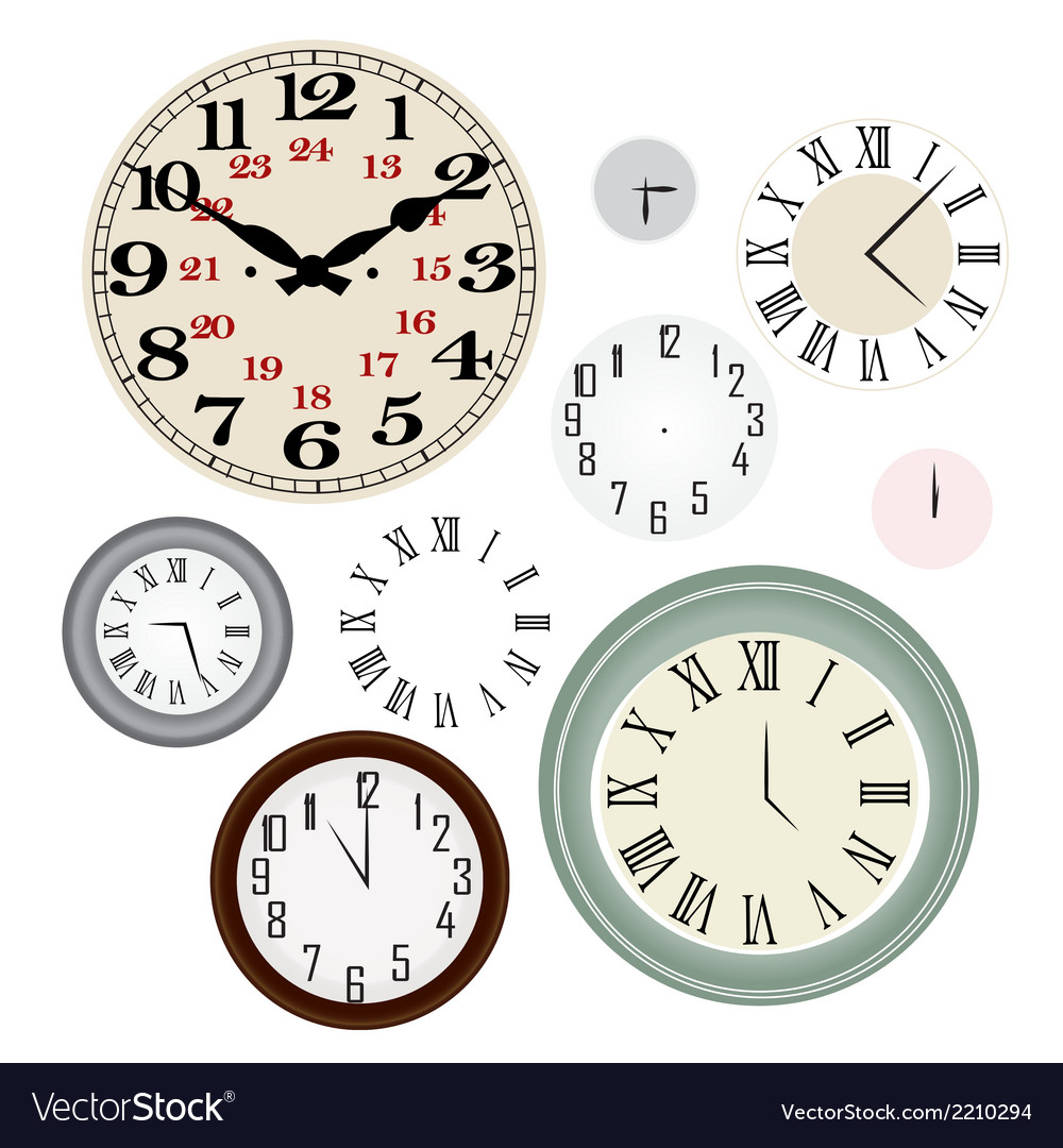 Clock vintage vector | Price: 1 Credit (USD $1)