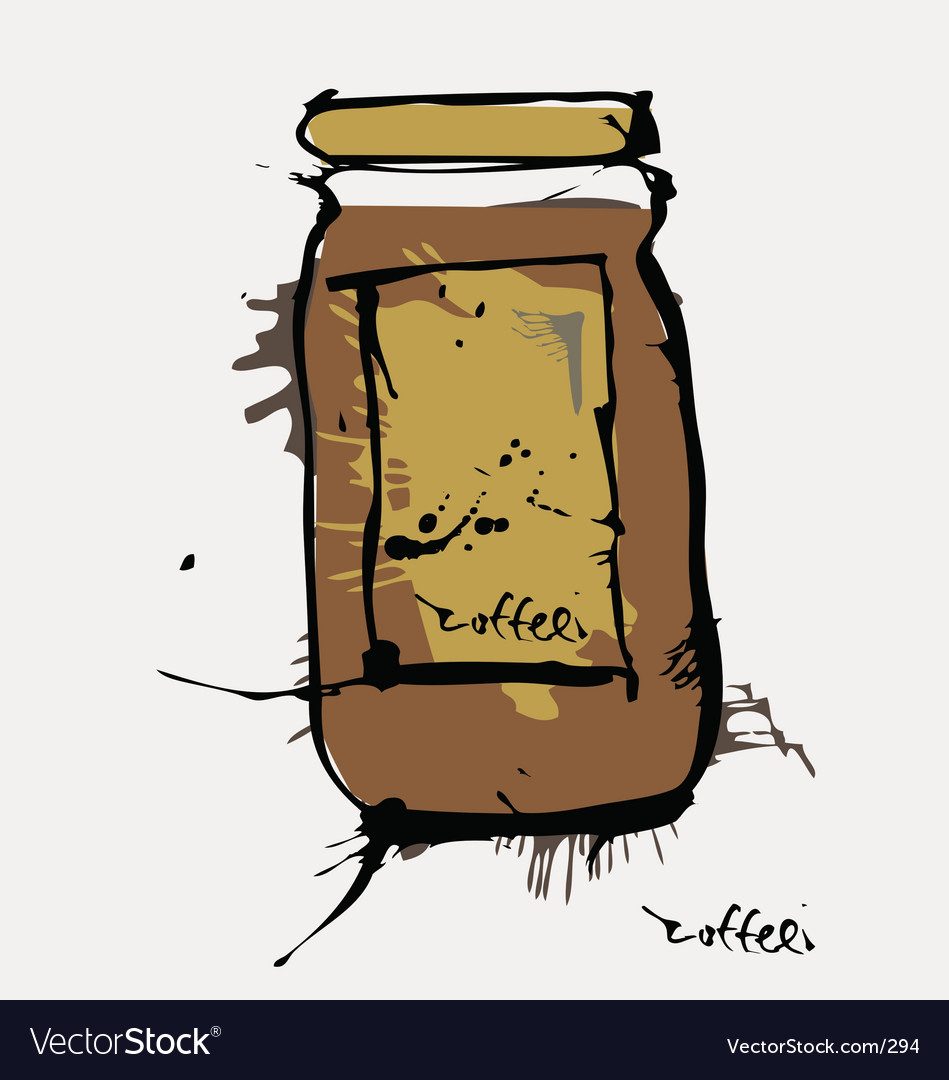 Ink coffee jar vector | Price: 3 Credit (USD $3)