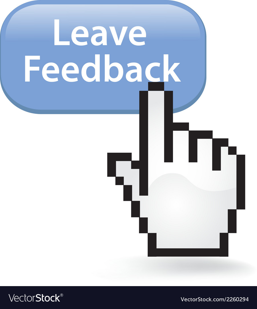 Leave feedback button vector | Price: 1 Credit (USD $1)
