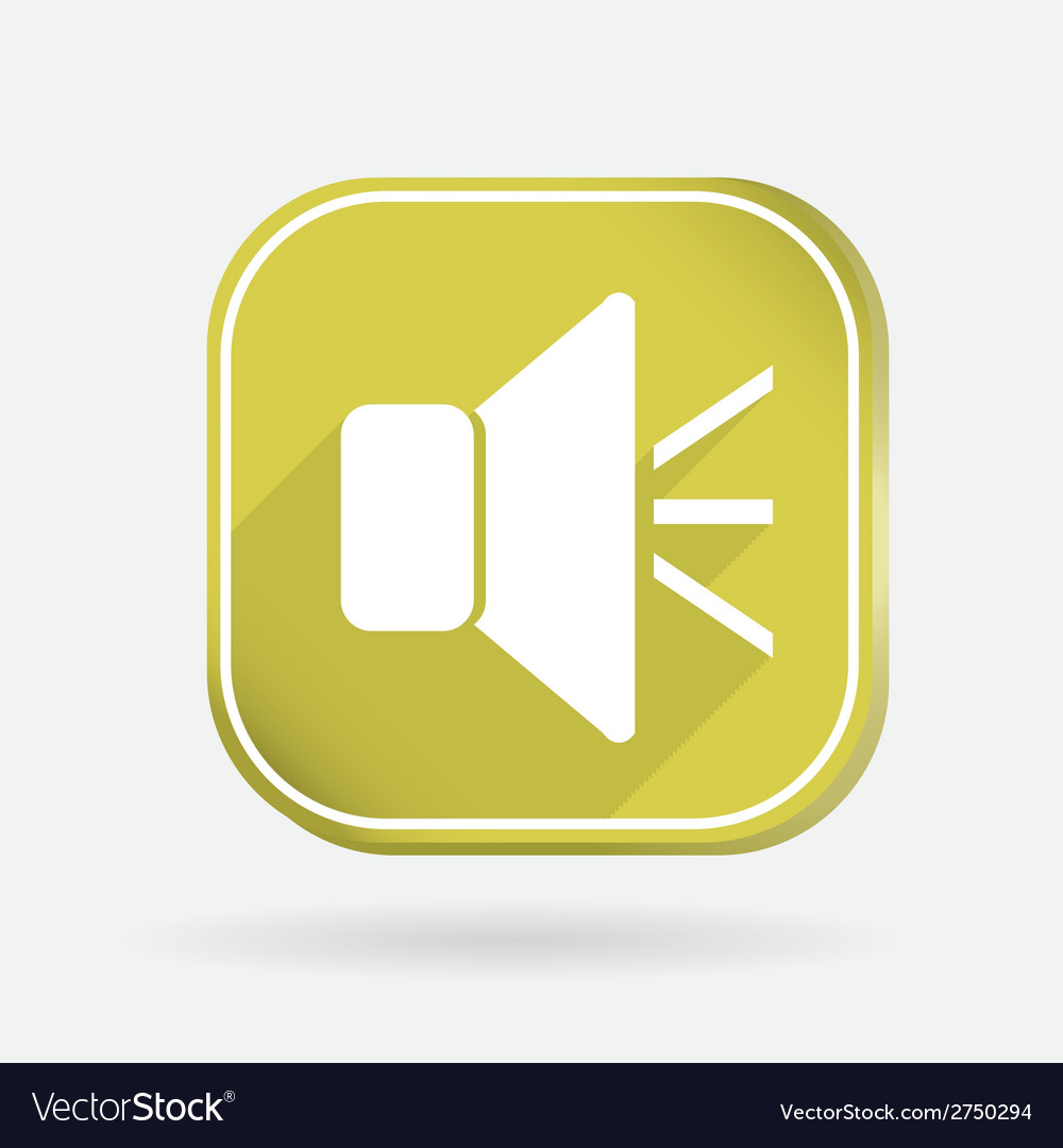 Loudspeaker color square icon vector | Price: 1 Credit (USD $1)