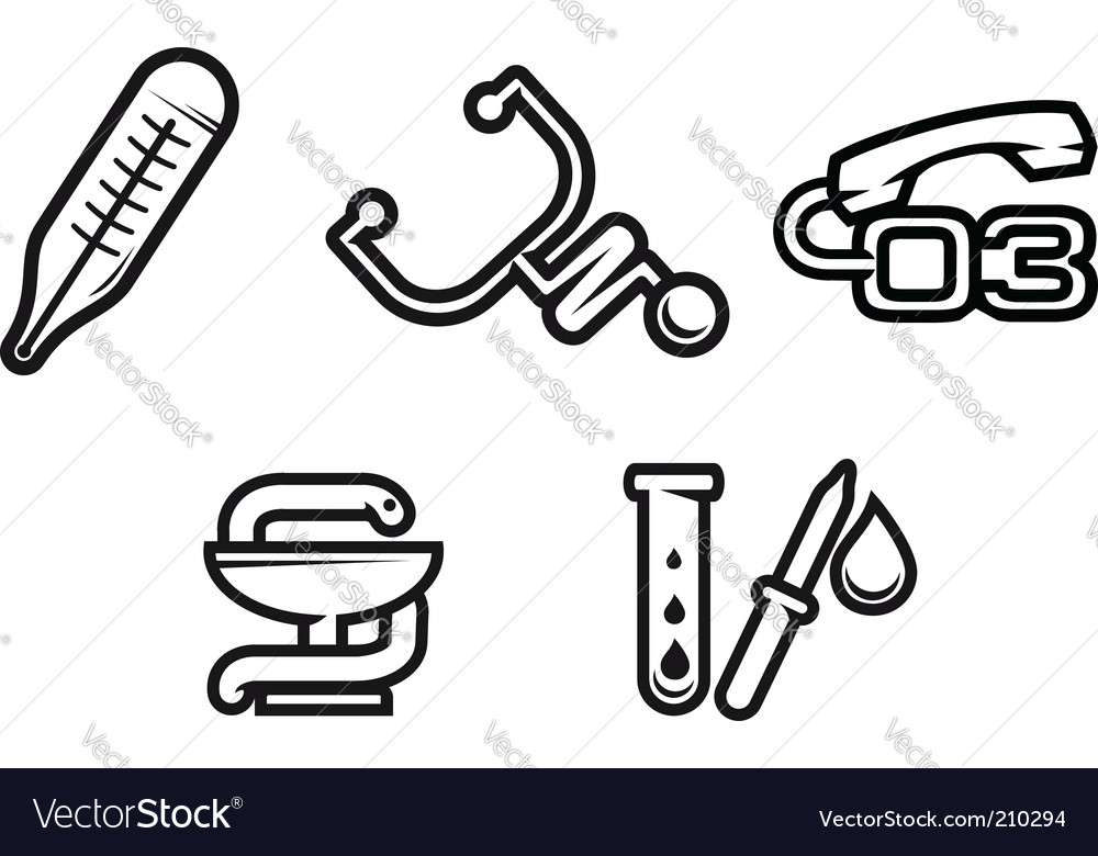Medicine symbols vector | Price: 1 Credit (USD $1)