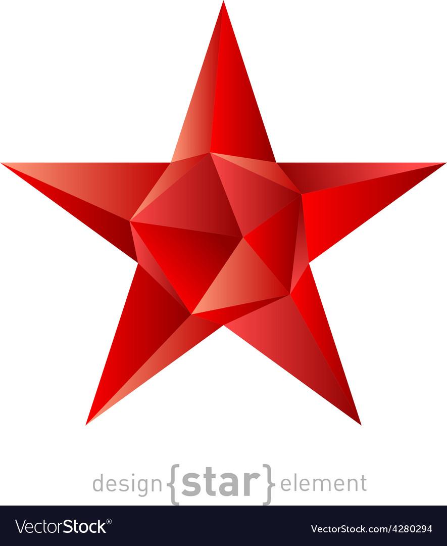 Polygonal ruby star modern futuristic vector | Price: 1 Credit (USD $1)