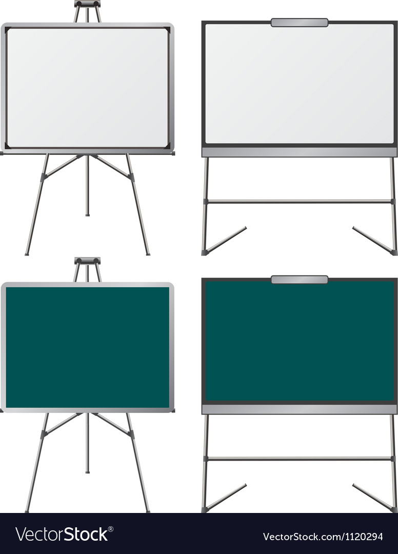 Set of easels first variant vector | Price: 1 Credit (USD $1)