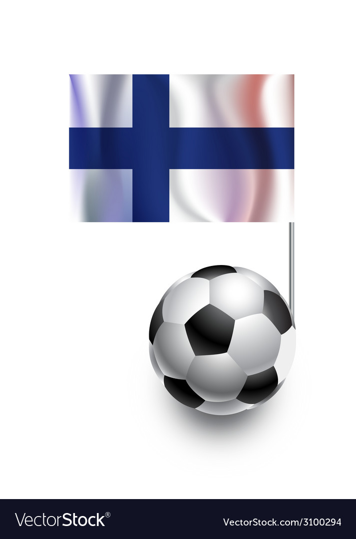 Soccer balls or footballs with flag of finland vector   Price: 1 Credit (USD $1)