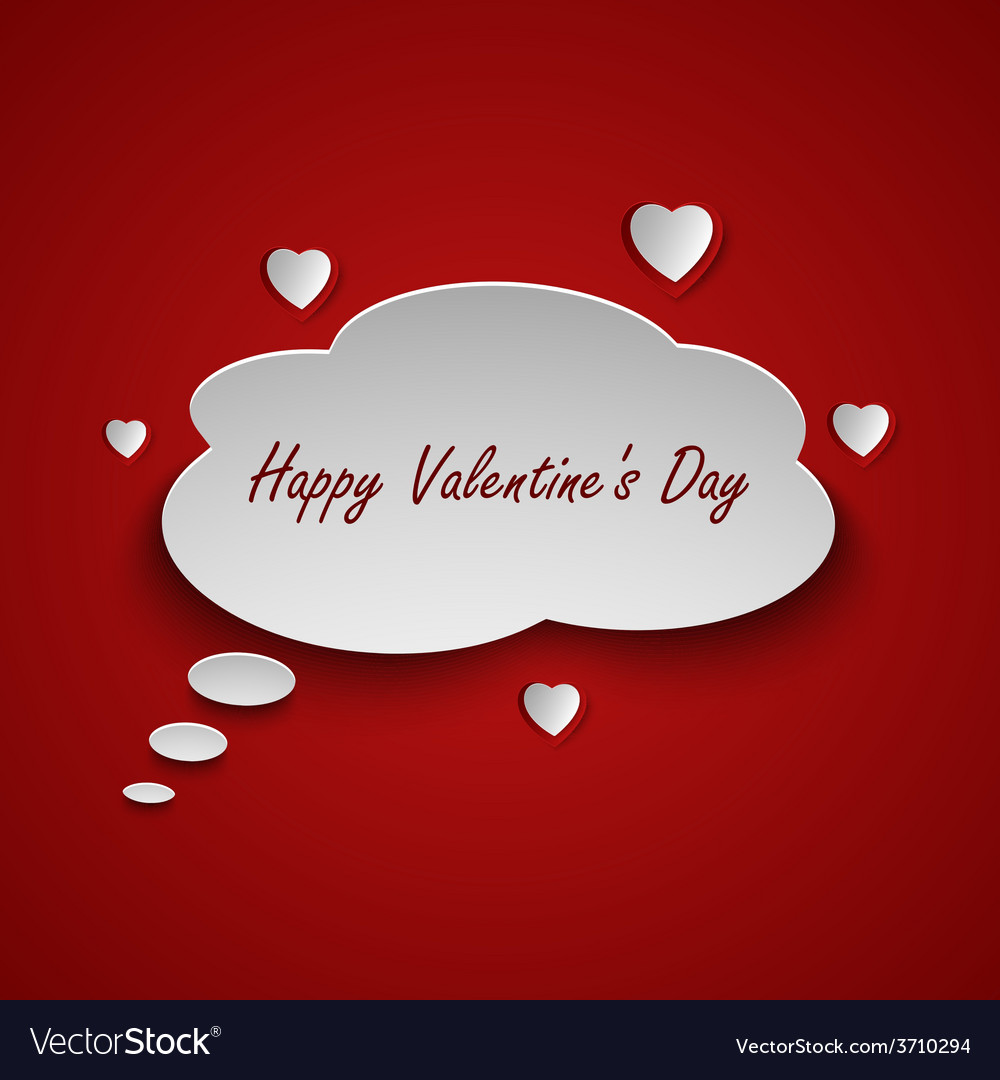 Valentines card with dialog bubble and hearts vector | Price: 1 Credit (USD $1)