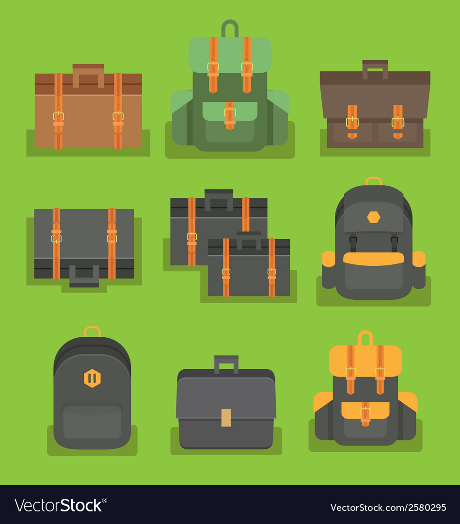 Bag pack vector | Price: 1 Credit (USD $1)