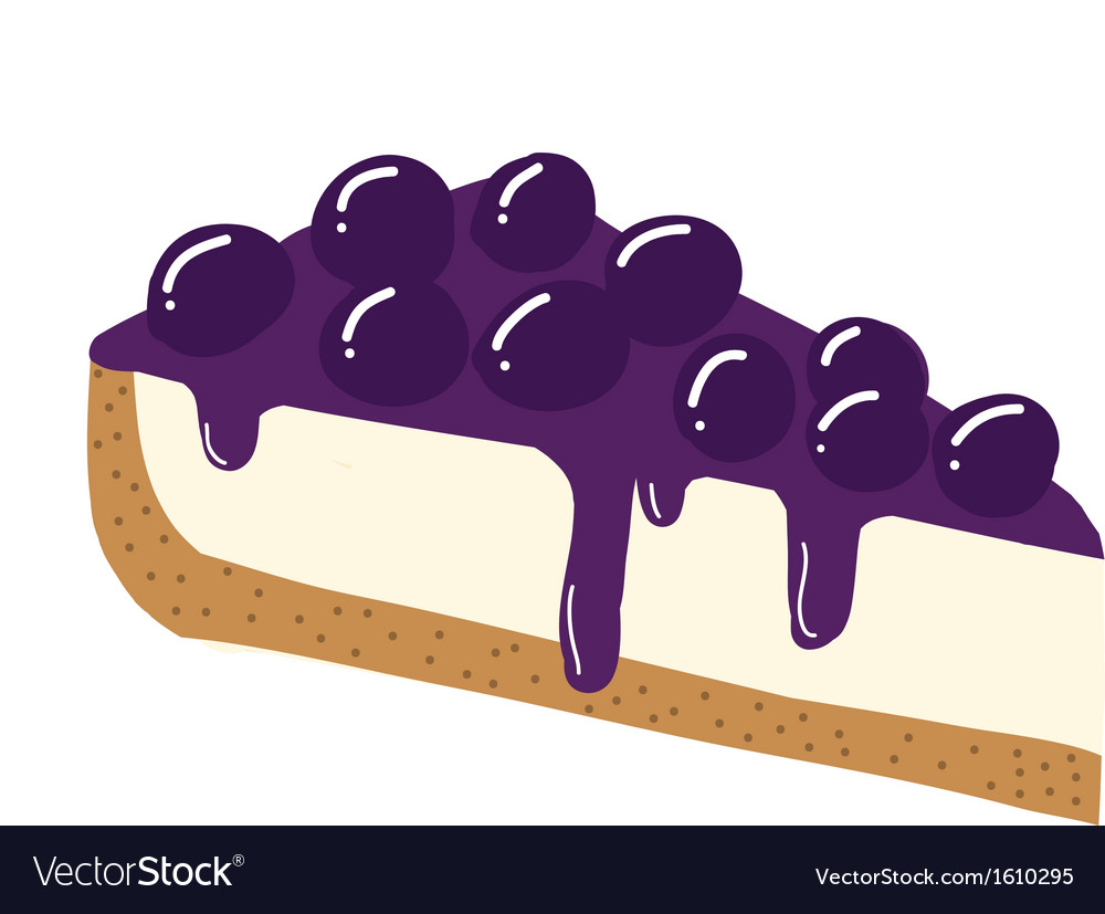 Blueberry cheesecake vector | Price: 1 Credit (USD $1)