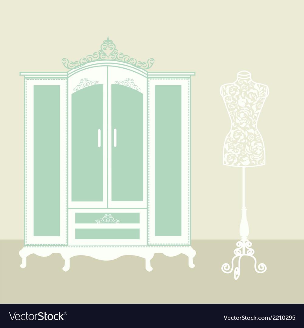 Dressing room vintage vector   Price: 1 Credit (USD $1)