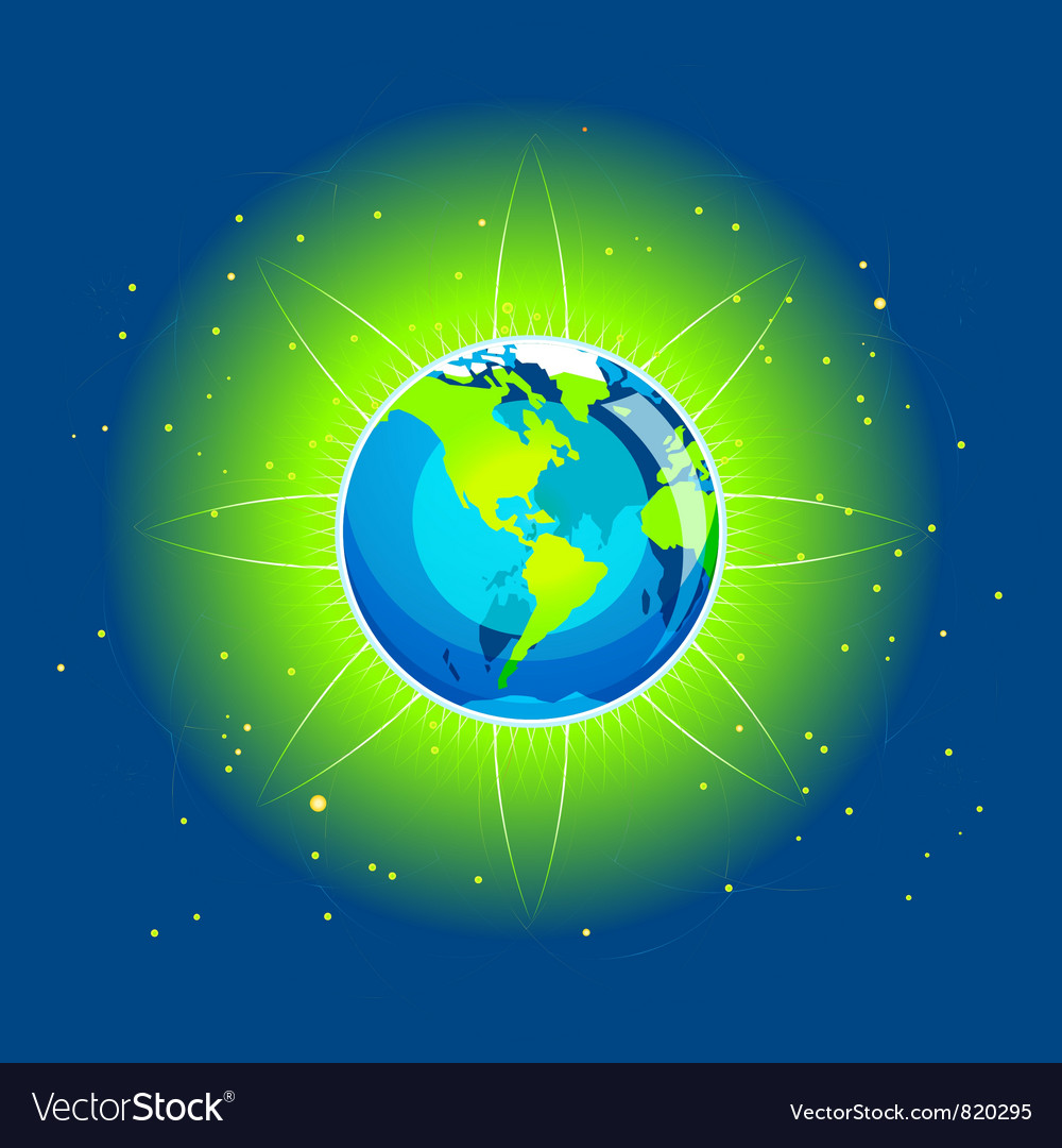 Earth beam america continents vector | Price: 1 Credit (USD $1)