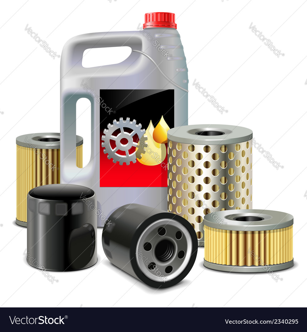 Engine oil and filters vector | Price: 1 Credit (USD $1)