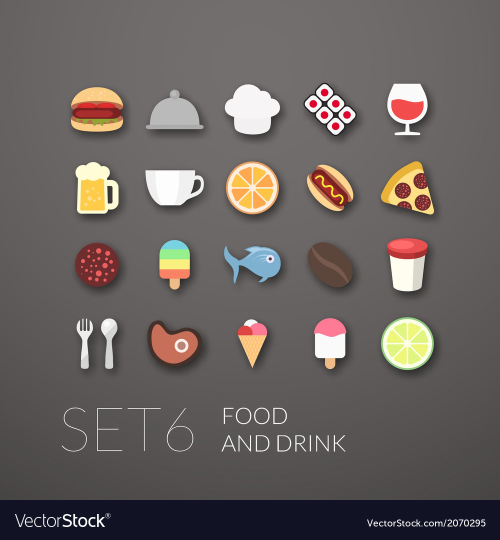 Flat icons set 6 vector | Price: 1 Credit (USD $1)