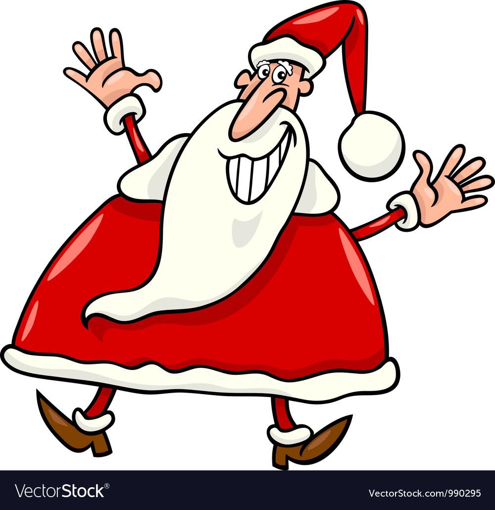 Happy santa claus cartoon vector   Price: 3 Credit (USD $3)