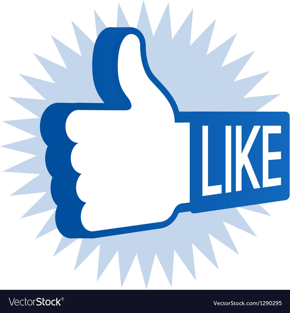 Like thumbs up vector | Price: 1 Credit (USD $1)