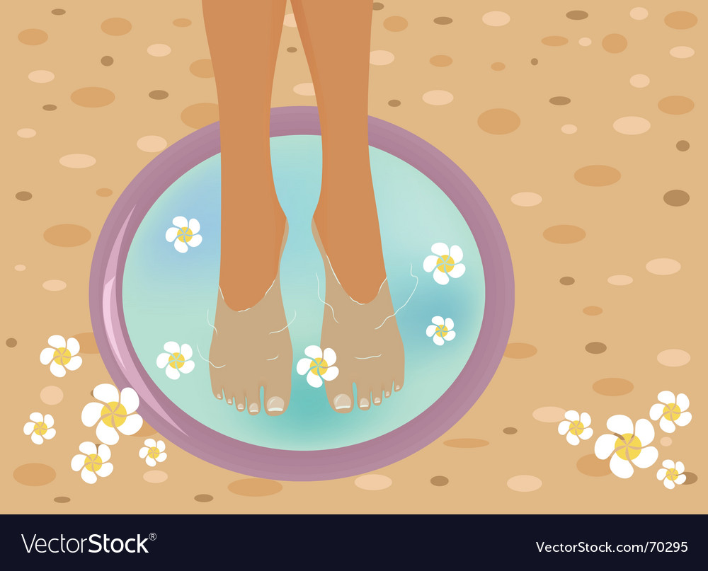 Pedicure vector | Price: 1 Credit (USD $1)